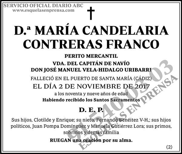 María Candelaria Contreras Franco